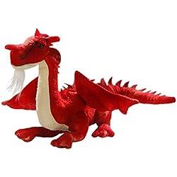Carl Dick Peluche - Dragón roja sentado (felpa, 30cm) [Juguete] 2626003