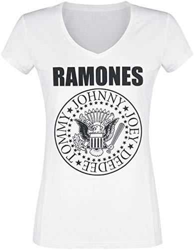 Ramones-band (Ramones Eagle Logo T-Shirt weiß S)