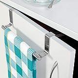 #3: D.R Stainless Steel Over Cabinet Door Kitchen Towel Bar (9 x 2.5 x 0.78 IN)