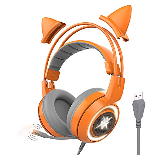 SOMIC G951 Orange Spiel Kopfhörer, Gaming Headset Orange - Orange-net-lichter Halloween