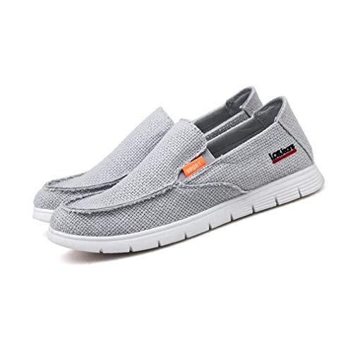 Exing Herrenschuhe Sommer Herbst Leinen Freizeitschuhe/British Breathable Faule Schuhe/Männer Slip On Canvas Schuhe (Farbe : C, Größe : 39) Canvas Womens Schuhe