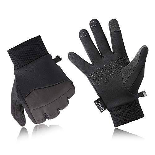 Fazitrip guantes de pantalla táctil antideslizante guantes de moto para otoño e invierno para deportes al aire libre como senderismo, correr, ciclismo, escalada y más.(antideslizante guantes,L)