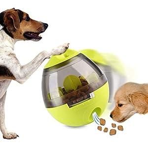 Uiqelys IQ Treat Ball, Distributeur de nourriture de chien de Tumbler, Pet Interactive jouet Balle Distributeur de nourriture pour chien et chat d'entraînement