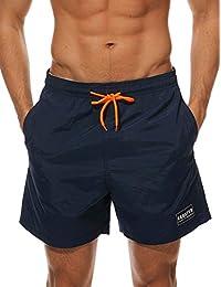 c12210436d HAINE Men's Beach Shorts Quick Dry Waterproof Sports Shorts Bathing Suit  Swim Trunks