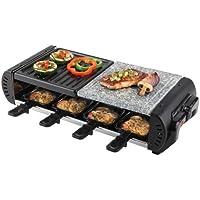 Korona 45025 - Plancha/raclette bandeja de piedra natural, 1200 W, para 8 personas)
