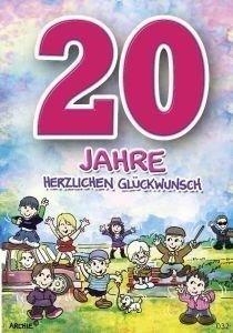 Archie Zahlengeburtstagskarte '20. Geburtstag' [Bürobedarf & Schreibwaren]