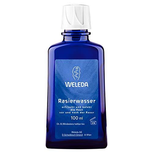 WELEDA Rasierwasser, Naturkosmetik Pre-Shave und After-Shave erfrischt und belebt die Haut vor und nach der Trocken und Nass-Rasur, pflegt und desinfiziert kleine Schnittwunden (1 x 100 ml)
