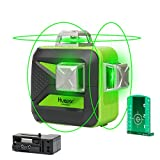 Huepar 3x360 Cross Line Laser - Green Beam Self-Leveling Laser - 40m/132ft Three