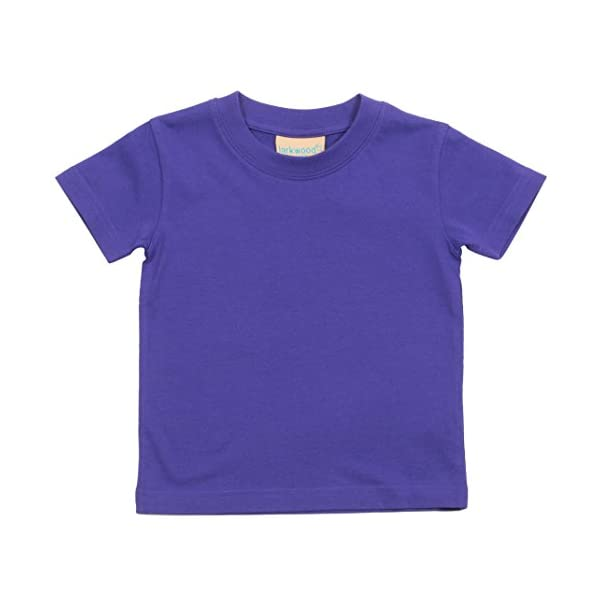 Larkwood- Camiseta de manga corta de cuello redondo para bebé (0-6 Meses, Jade) 1