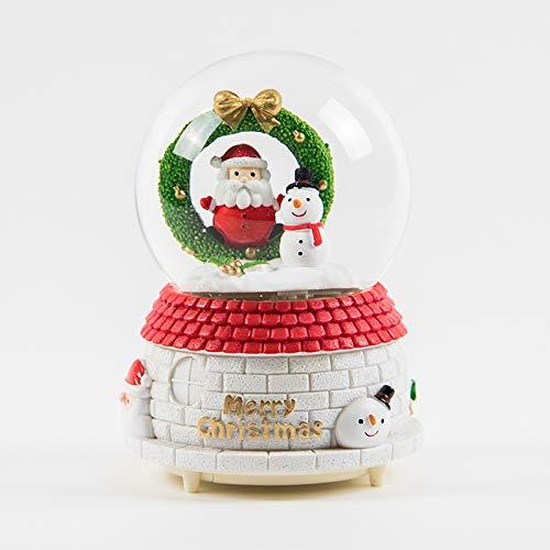 (hokkk Schnee-Kristallkugel-Spieluhr-Geschenk-Dekoration Netter Freund senden Freundinnen Weihnachten Valentinstag Geburtstagsgeschenk Höhe 16 cm Breite 10 cm Q)