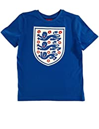 Official England Football Kids Large Logo Crest Tee - Blue