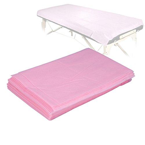 10pcs lenzuolo monouso impermeabile non tessuto 175 x 75cm per salone di bellezza, massaggi, tatuaggio, hotel, copri materasso, uso quotidiano per persona e animale domestico (rosa)