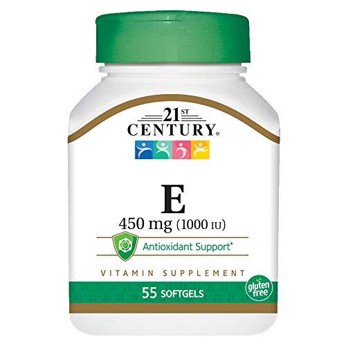 21st Century Health Care, E-1000, 55 Softgels - Vitamin E 1000mg -