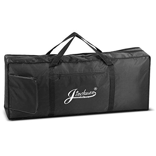 Flexzion Klaviertastatur Gigbag (61 Tasten) Digital Elektronische Tastatur Wasserdicht Soft Case mit Tragegriff, Taschen, verstellbarer Schultergurt, Musik-Speicherzubehör für Konzerttour Reisen (Tastatur Musikalische Tasche)