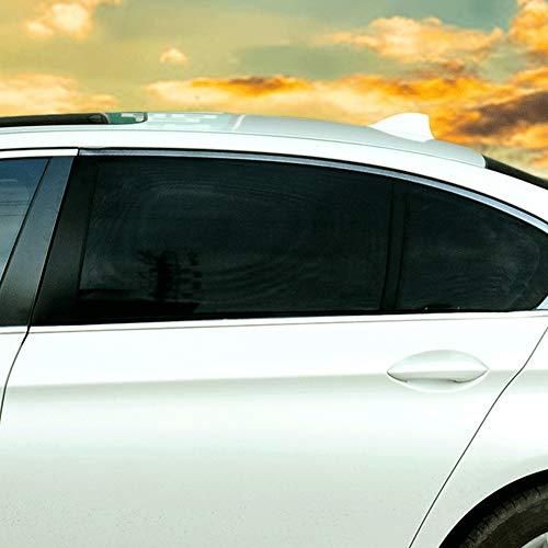 Qinlorgo Car Window Shade - 1 Paar UV-Schutz schwarz Sonnenschutz Auto hinten Seitenscheibe Vorhang(110 * 52 cm) (Vorhänge Grau Tülle)
