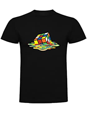 The Fan Tee Camiseta de Divertidas Cubo Rubik Divertida Funny DERRER Big Bang Theory Mujer