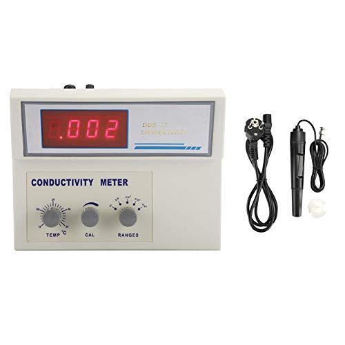 PH-Monitor-Messgerät, Digitalanzeige Leitfähigkeitsmessgerät für Labortische PH-EC-Messgerät Wasserqualitätsprüfgerät(EU-Stecker)