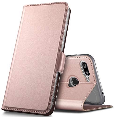 GEEMAI Diseño para Xiaomi Mi 8 Lite Funda, Protectora PU Funda Multi-ángulo a Prueba de Golpes y Polvo a Prueba de Silicona con Soporte Plegable Apto para Xiaomi Mi 8 Lite Smartphone. (Oro Rosa)