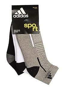 Adidas Half Cushion High Ankle Socks AD415(G Mel/White/Black) Pack of 3