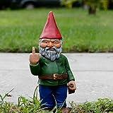 Runsmooth 15 Cm Nain De Jardin Doigt d'honneur - Statue De Gnomes Go Away Ornements De Pelouse De Jardin Drôle, Décorations I
