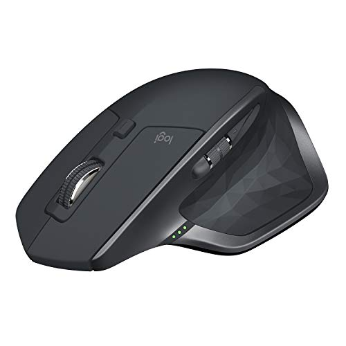 Logitech MX Master 2S Mouse Wireless, Unifying e Bluetooth per Mac e Windows, Ricaricabile, Scroller Azionabile, Grafite