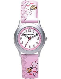 Cannibal Girl's Quartz Watch with White Dial Analogue Display and Pink Plastic or Pu Strap CK176-14