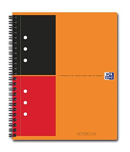 Oxford International, block notes classico, 2 giri, doppio margine, a righe, 160 pagine, rif. N001212, formato A5, confezione da 5