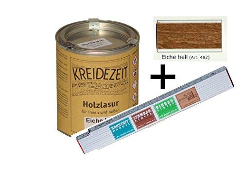 Holzlasur für Innen und außen 0,75 l farbig (Eiche hell)