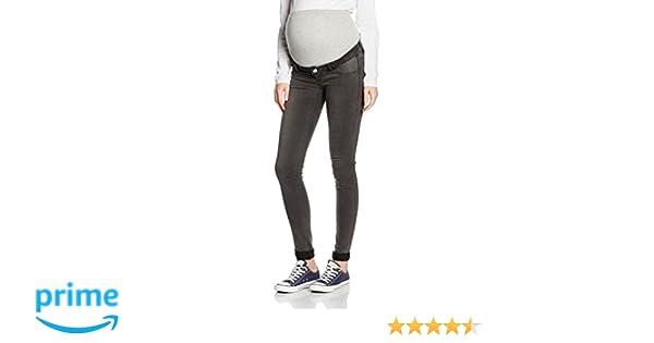 MAMALICIOUS Damen Umstandsjeans Mlella Skinny Grey Jeans-Noos