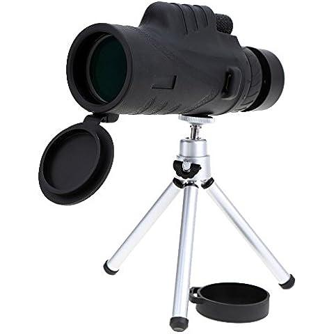 Lixada 12X52mm Zoom Cannocchiale Telescopio per osservazioni terrestri / caccia / eventi sportivi+ Treppiede metallico - Golf Uscita Acqua