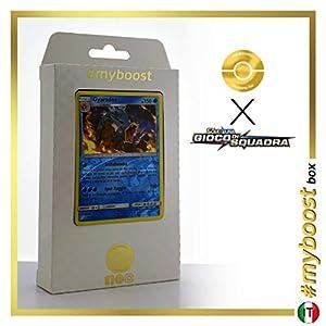 Gyarados 30/181 Holo Reverse - #myboost X Sole E Luna 9 Gioco di Squadra - Box de 10 Cartas Pokémon Italiano