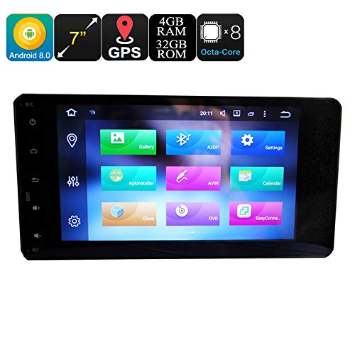 Mitsubishi 2 Din Car Media Player 7 inch Display 4+32GB Android 6.0 Octa Core