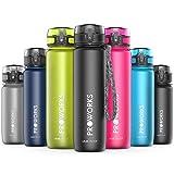 Proworks Bottiglia Acqua a Prova di Perdita | Pallone Sport Scorrimento Ideale per Corsa, Ciclismo & Escursionismo | Bottiglia per Bibite in Plastica Tritan Senza BPA - 1 Litri (36 Once) - Nero