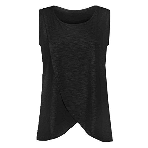 Babysbreath Frauen Elastische Pflege Tank Tops Sommer Stillen Weste Kleidung Schwangere Stillen Mutterschaft Weiche T-Shirts schwarz 4XL