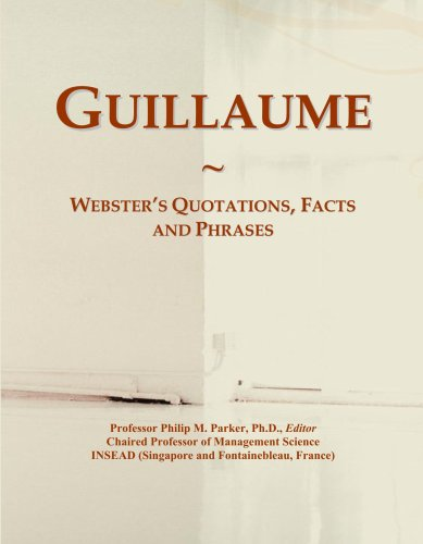 Guillaume: Webster's Quotations, Facts and Phrases PDF Books