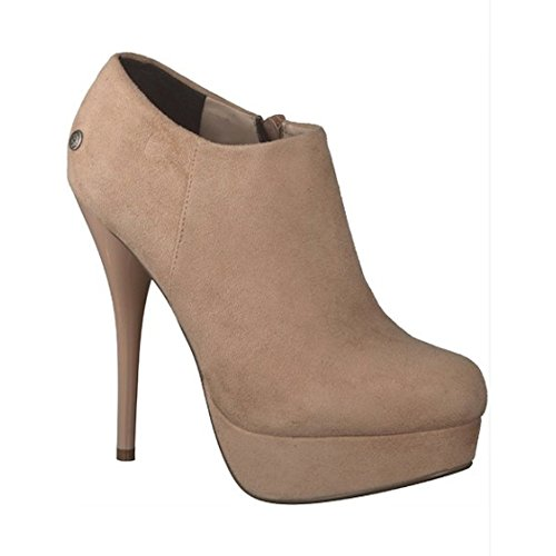 High Heel Tasche (MELROSE Damen Schuhe, Ankle Boots, High Heels, Stiefelette, Gr. 40, beige)