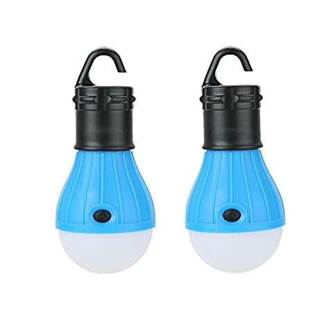 2Stück LED Camping-Laterne Leuchtmittel–Sun Run Zelt Lichter, Notfall Nacht Lampe für drinnen und draußen Wandern Angeln, tragbar, batteriebetrieben, (Torch Light 2)