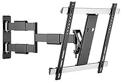 RICOO S3344, TV Wand-Halterung, Schwenkbar, Neigbar, Wand-Halter, Universal (32-55 Zoll (81-140 cm) Fernseh-, Curved-, LCD-, LED-, Flachbild-, Fernseher-Halterung, VESA 200x200 400x400, Schwarz