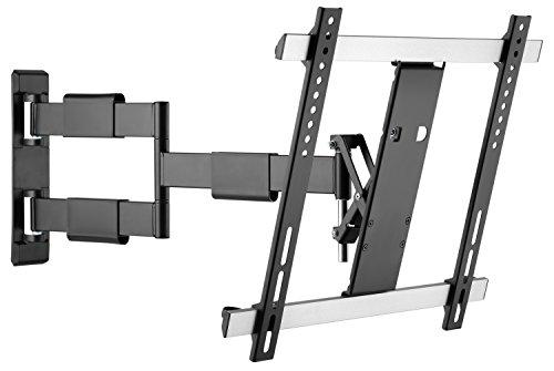 RICOO TV Wandhalterung S3344 Fernseh Universal Halterung Schwenkbar Neigbar Aufhängung Curved LCD Fernseherhalterung Wand Halter Flach 81-140cm 32-55 Zoll VESA 200x200 400x400 Schwarz