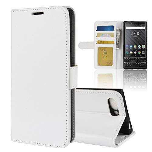 NEKOYA BlackBerry Key 2 Hülle,BlackBerry Key 2 Lederhülle,Handyhülle im Brieftasche-Stil für BlackBerry Key 2.Schutzhülle mit [TPU Innenschale] [Standfunktion] [Kartenfach] [Magnetverschluss]