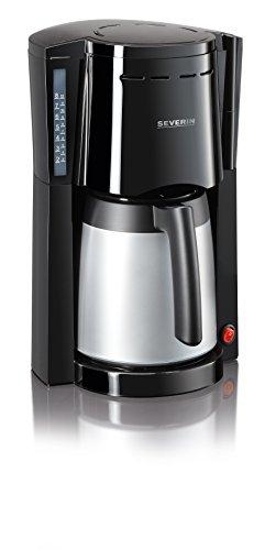 Severin KA 9482 Kaffeeautomat mit 2 Thermokannen (800 Watt, Edelstahl, Kunststoff, Automatische Abschaltung) schwarz/silber (Kaffeemaschine Abschaltung Automatische)