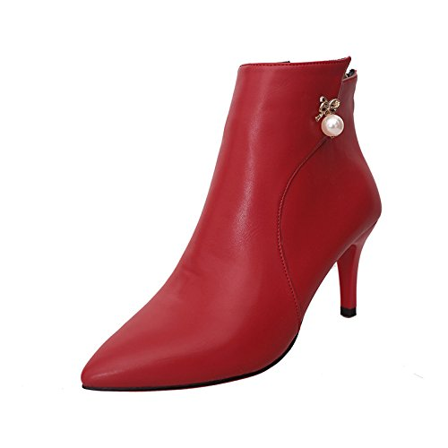 WSX&PLM Da donna-Stivaletti-Formale Casual-Comoda-A stiletto-PU (Poliuretano)-Nero Rosso Grigio gray