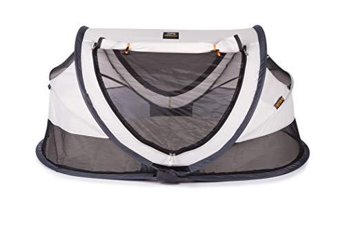 Deryan Reisebett/Travel-cot Peuter Reisebettzelt inklusive Schlafmatte, selbstaufblasbarer Luftmatratze und Tragetasche mit Pop-Up innerhalb 2 Sekunden aufgebaut, cream