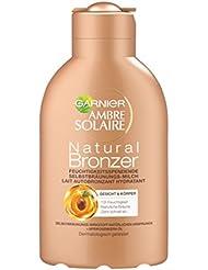 Garnier Ambre Solaire Selbstbräuner Natural Bronzer / Selbstbräunungs-Milch 12h Feuchtigkeit (dermatologisch getestet) 1er Pack - 150 ml