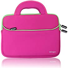 mCoque Calidad Funda Bolso Sleeve de neopreno para 10,1 pulgadas ASUS Chromebook Flip C100PA portátil con la manija y bolsillo para accesorios (Rosa)
