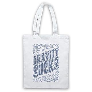 Gravity Sucks Astrophysics Tote Bag, White