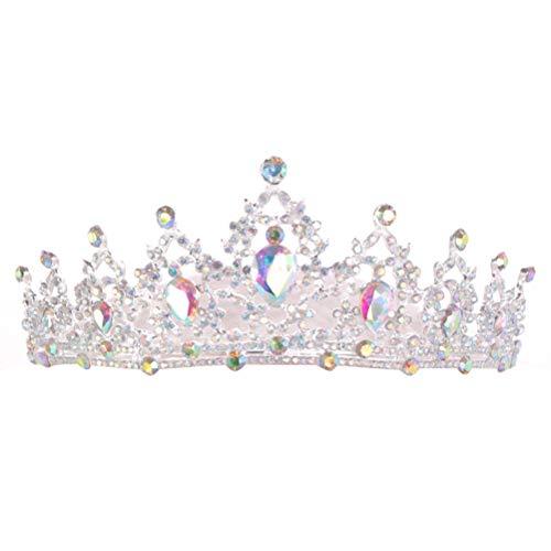 Neborn 2019 neue Mode Barock Luxus Kristall AB Braut Crown Tiaras Licht Gold Diadem Tiaras für Frauen Braut Hochzeit Haar Zubehör (silber)