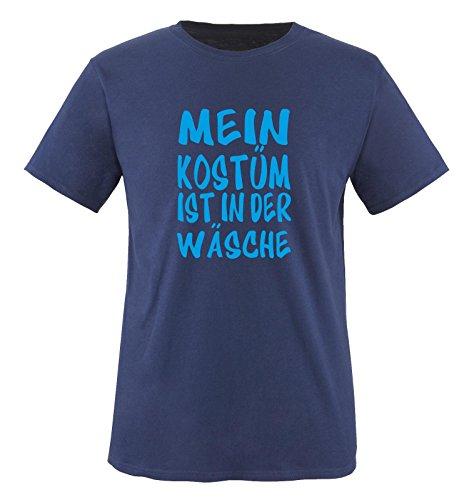 Comedy Shirts - MEIN KOSTÜM IST IN DER WÄSCHE - Kinder T-Shirt Navy / Blau Gr. (Kostüme Und Minnie Für Paare Mickey)