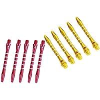 Homyl 10 Pcs de Ejes de Dardos Palos Color Rojo y Oro para Reparación de Dardos Accesorio de Deportes