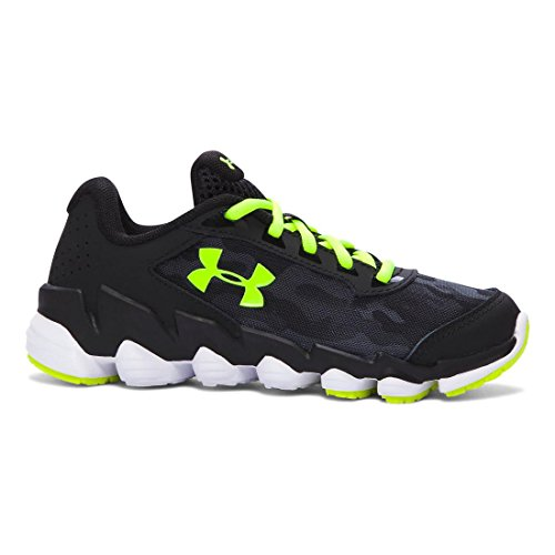 Under Armour Boys Pre-School UA Spine Disrupt Running Shoes Black/ Stealth Gray/ White